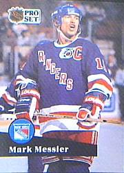 1991-92 Pro Set #439 Mark Messier