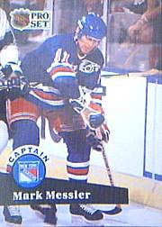 1991-92 Pro Set #579 Mark Messier CAP