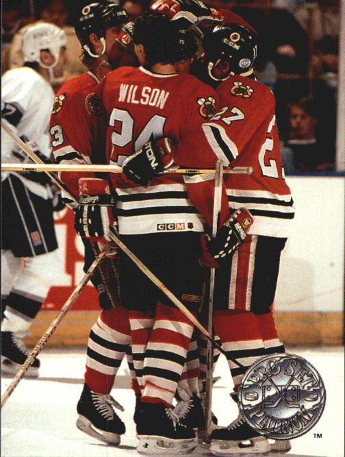 1991-92 Pro Set Platinum #141 Chicago Blackhawks
