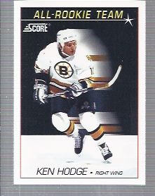 1991-92 Score American #353 Ken Hodge Jr. ART