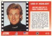 1991-92 Score American #413 Wayne Gretzky 700th back image