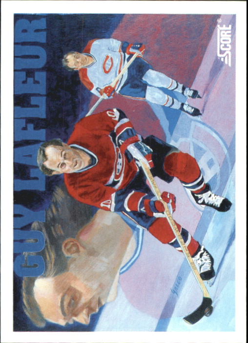 1991-92 Score Canadian Bilingual #291 Guy Lafleur
