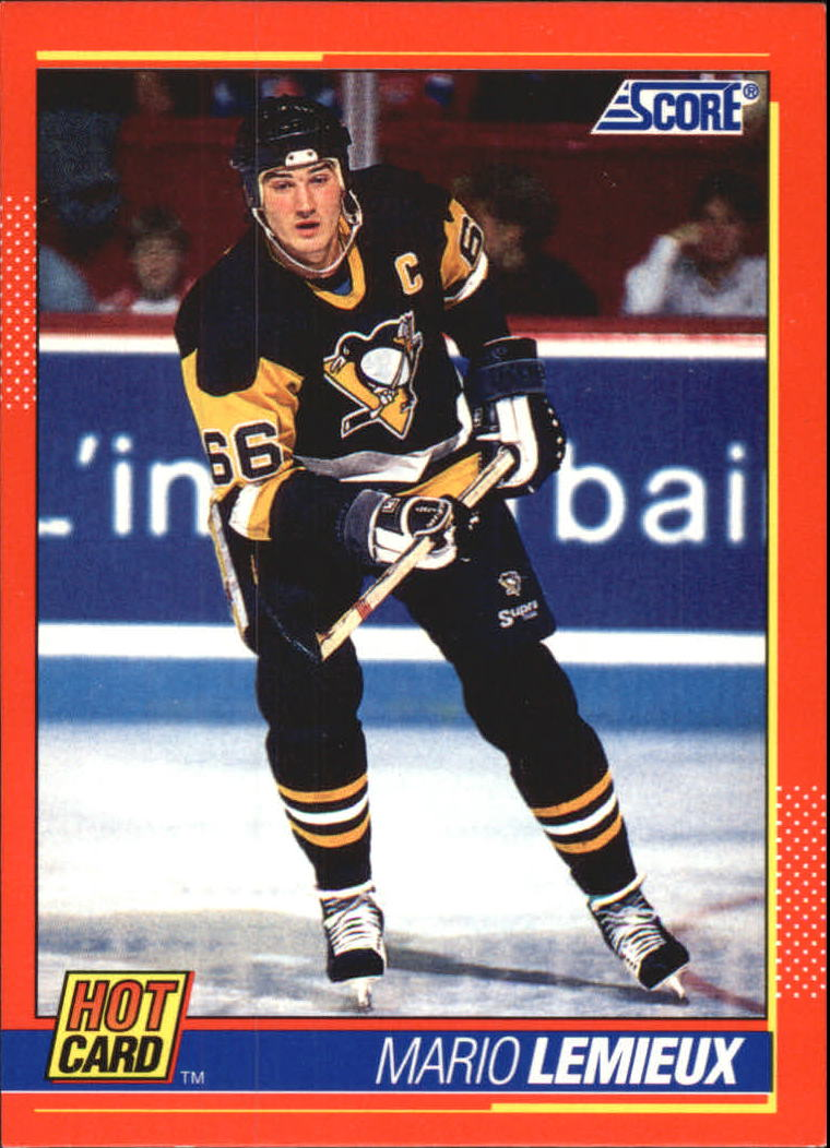 1991-92 Score Hot Cards #5 Mario Lemieux