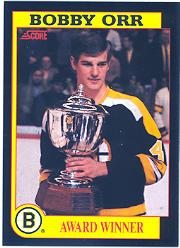 1991-92 Score Bobby Orr #6 Bobby Orr/Award Winner/(Found only in/American English packs)