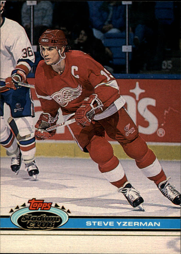 1991-92 Stadium Club #81 Steve Yzerman