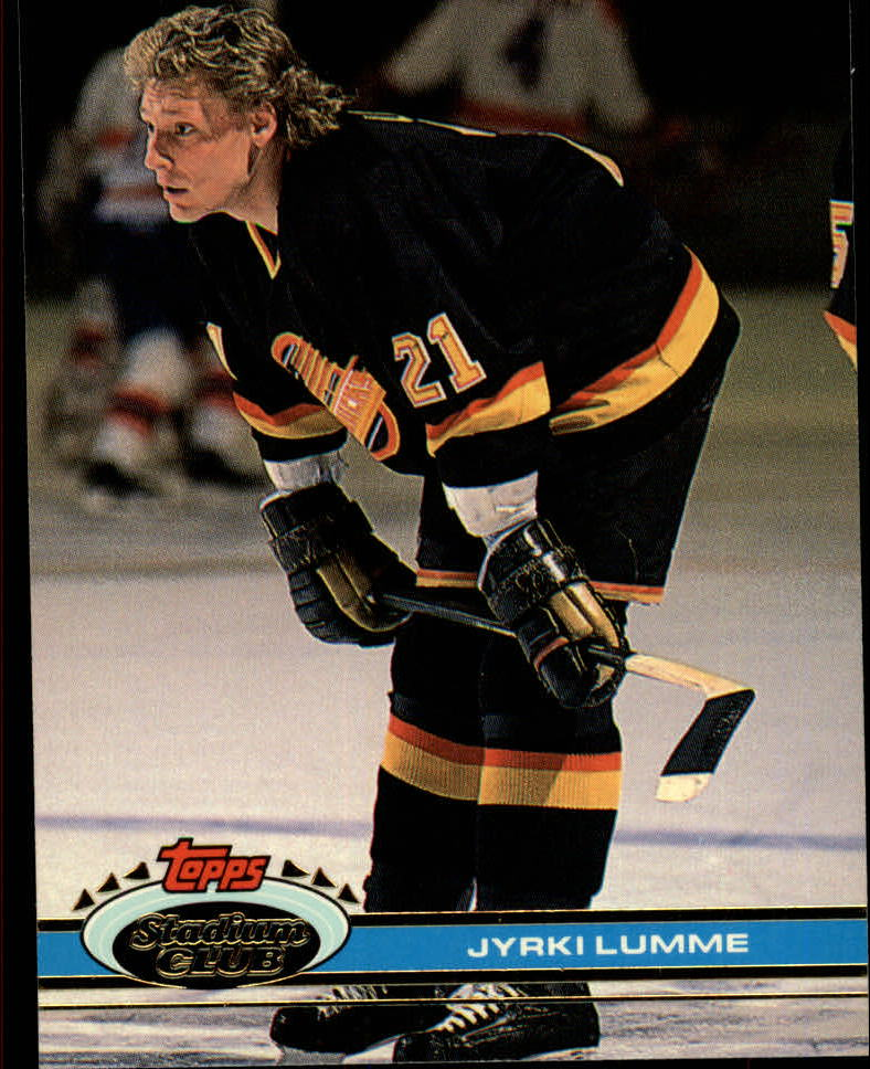 1991-92 Stadium Club #154 Jyrki Lumme