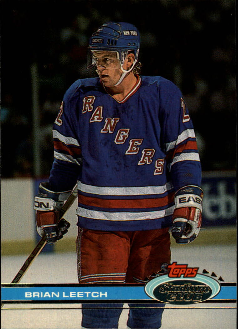 1991-92 Stadium Club #201 Brian Leetch