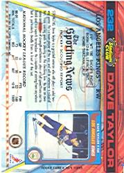 1991-92 Stadium Club #232 Dave Taylor back image