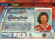 1991-92 Stadium Club #252 Larry Robinson back image