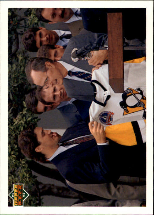 1991-92 Upper Deck #47 Mario Lemieux/George Bush