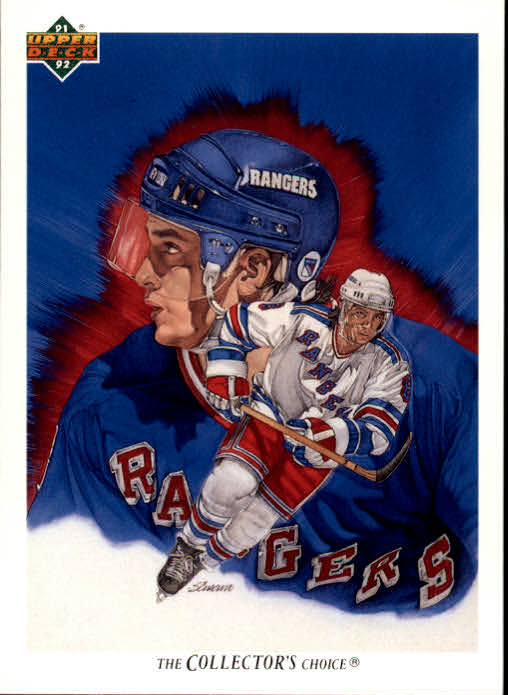 1991-92 Upper Deck #90 Darren Turcotte/(New York Rangers TC)
