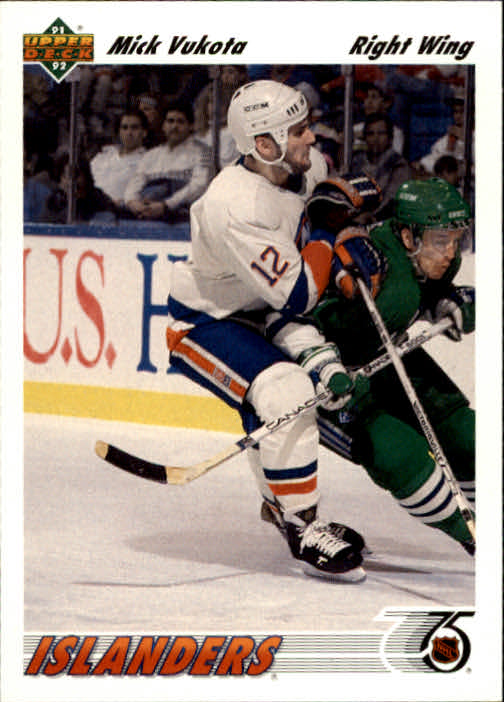 1991-92 Upper Deck #135 Mick Vukota