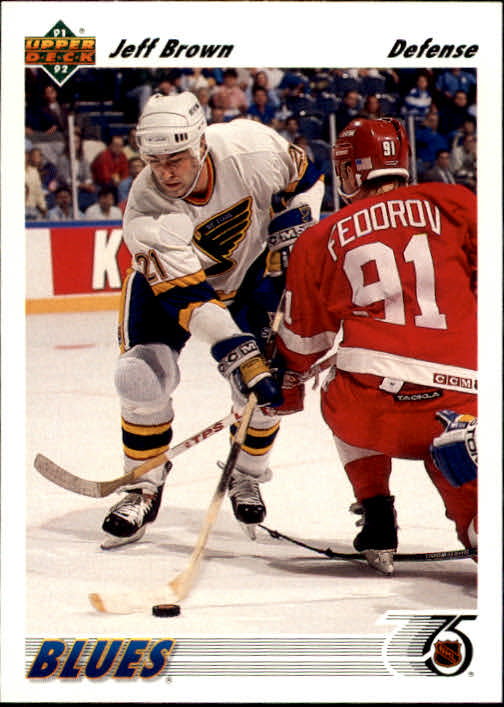 1991-92 Upper Deck #211 Jeff Brown