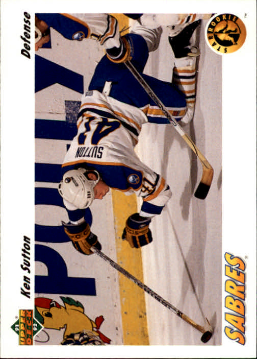 1991-92 Upper Deck #458 Ken Sutton RC