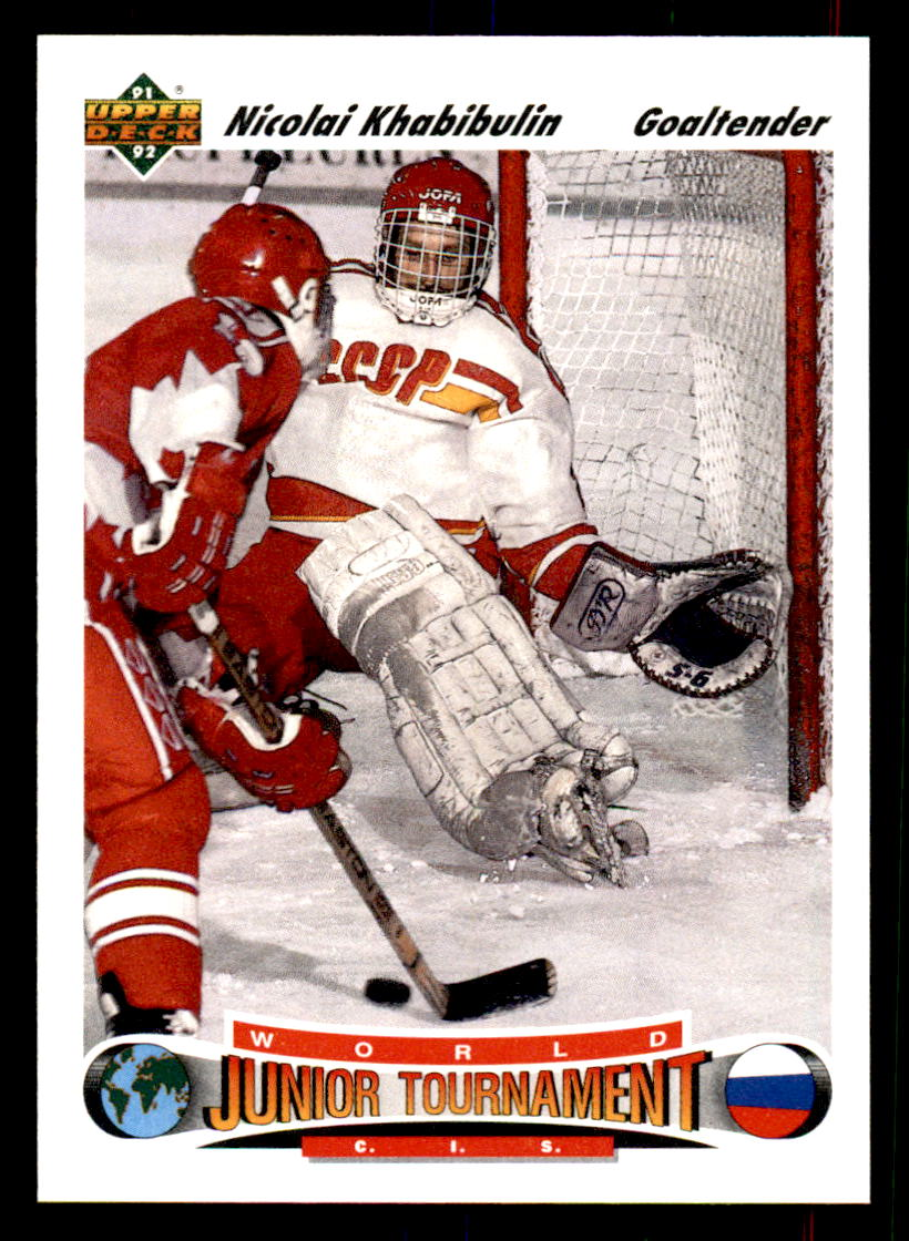 1991-92 Upper Deck #652 Nikolai Khabibulin RC