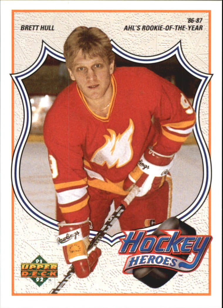 1991-92 Upper Deck Brett Hull Heroes #4 Brett Hull/AHL's Rookie-of-/the-Year