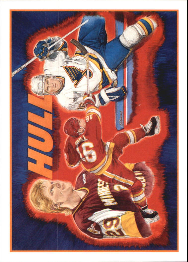 1991-92 Upper Deck Brett Hull Heroes #9 Brett Hull/(Vernon Wells Artwork)