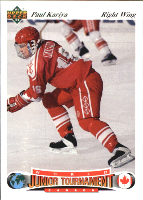 1991-92 Upper Deck Czech World Juniors #50 Paul Kariya