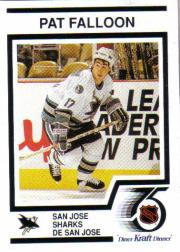 1991-92 Kraft #8 Pat Falloon/San Jose Sh