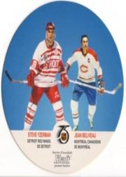 1991-92 Kraft #68 Steve Yzerman/Jean Beliveau