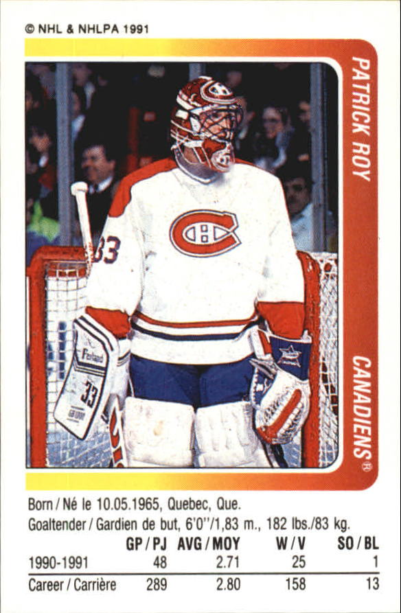 1991-92 Panini Stickers #184 Patrick Roy
