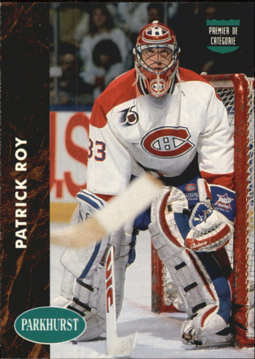 1991-92 Parkhurst French #442 Patrick Roy LL