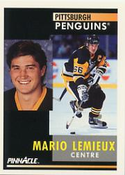 1991-92 Pinnacle French #1 Mario Lemieux