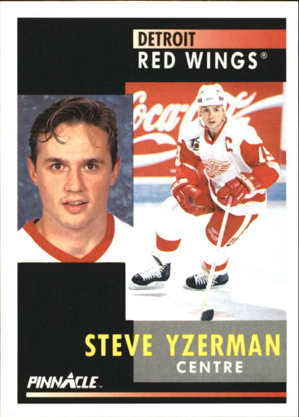 1991-92 Pinnacle French #75 Steve Yzerman
