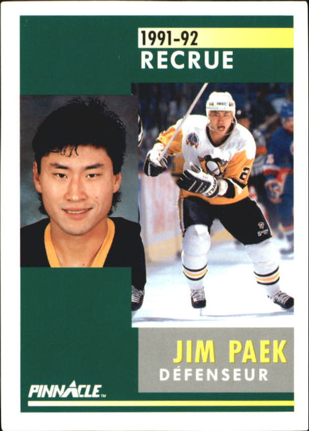 1991-92 Pinnacle French #344 Jim Paek RC