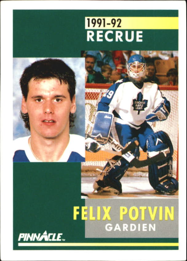 1991-92 Pinnacle French #345 Felix Potvin