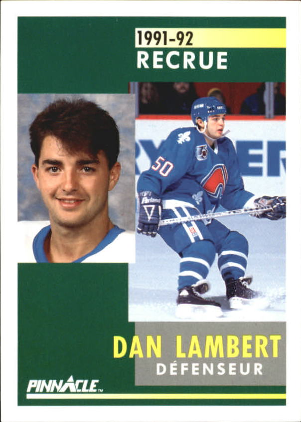 1991-92 Pinnacle French #346 Dan Lambert RC