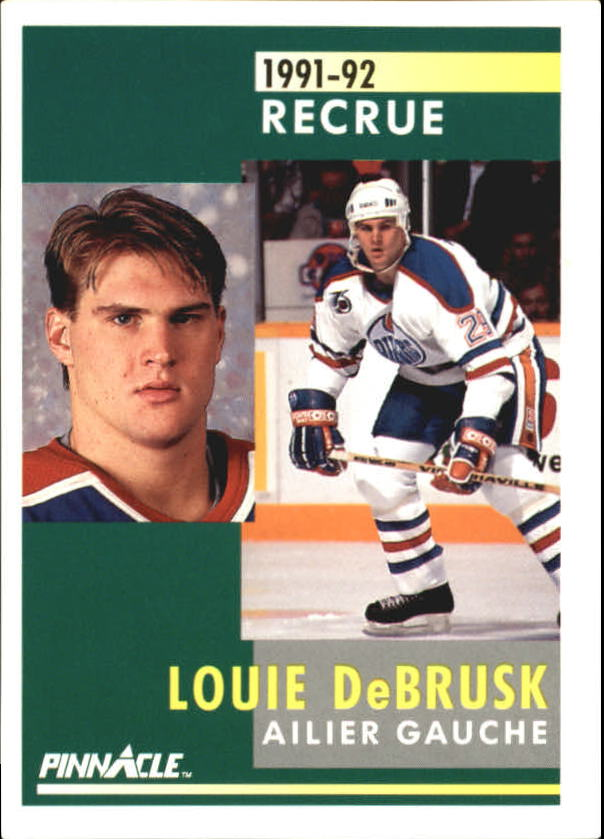 1991-92 Pinnacle French #347 Louie DeBrusk