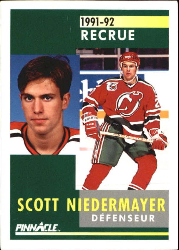 1991-92 Pinnacle French #349 Scott Niedermayer