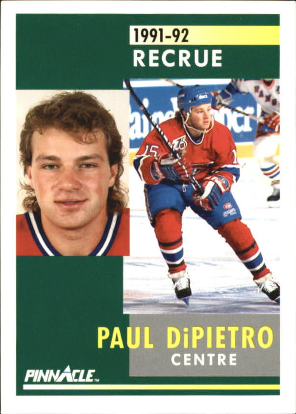 1991-92 Pinnacle French #350 Paul DiPietro RC