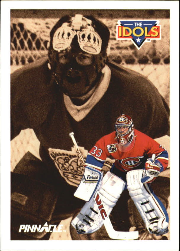 1991-92 Pinnacle French #387 Patrick Roy IDOL/(Rogatien Vachon)