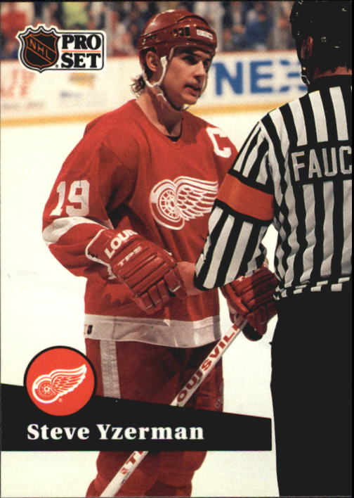 1991-92 Pro Set French #62 Steve Yzerman