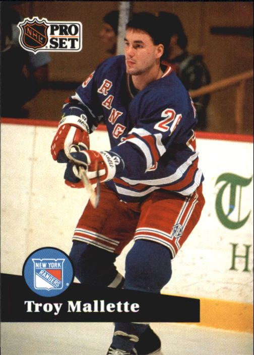 1991-92 Pro Set French #157 Troy Mallette