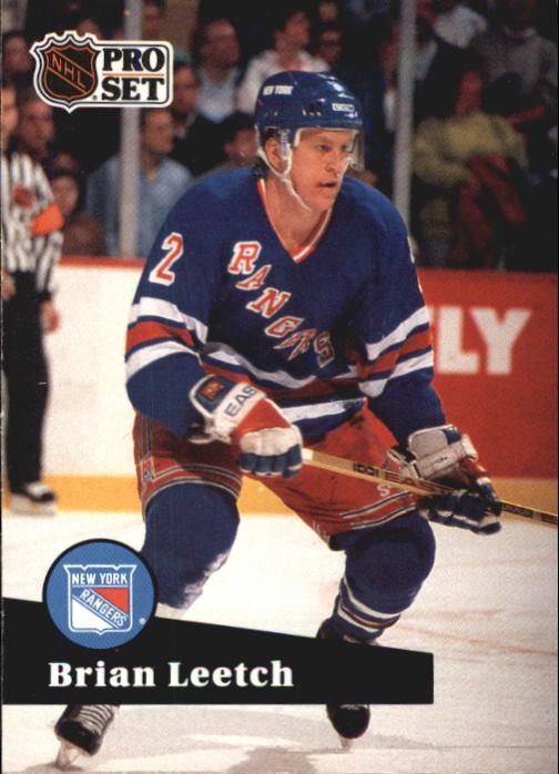 1991-92 Pro Set French #159 Brian Leetch UER