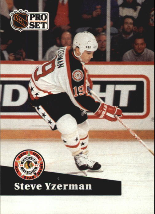 1991-92 Pro Set French #281 Steve Yzerman AS