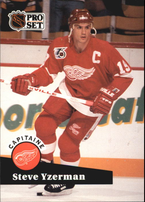 1991-92 Pro Set French #571 Steve Yzerman CAP