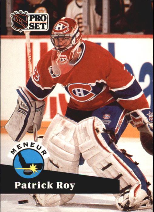 1991-92 Pro Set French #599 Patrick Roy LL