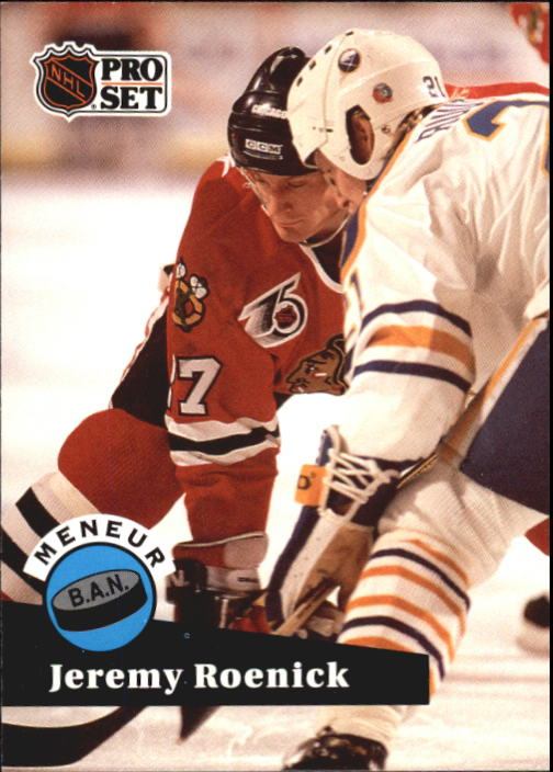 1991-92 Pro Set French #605 Jeremy Roenick LL