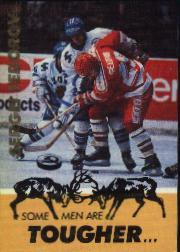 1991-92 Russian Tri-Globe Fedorov #3 Sergei Fedorov/Some men are tougher