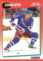 1991-92 Score Canadian English #5 Brian Leetch