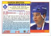 1991-92 Score Canadian English #250 Aaron Broten