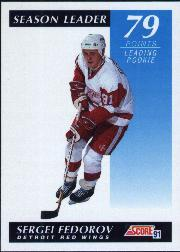 1991-92 Score Canadian English #298 Sergei Fedorov SL
