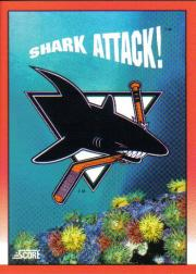 1991-92 Score Canadian English #304 San Jose Sharks Logo
