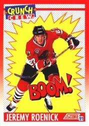 1991-92 Score Canadian English #309 Jeremy Roenick Crunch