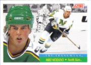 1991-92 Score Canadian English #313 Mike Modano FRAN