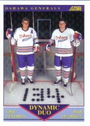 1991-92 Score Canadian English #385 Eric Lindros/Rob Pearson